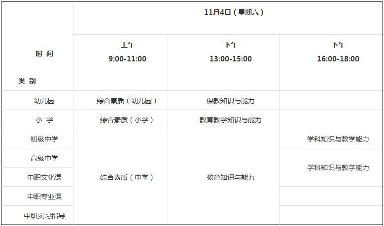2017下半年江西省中小学教师资格考试笔试公告